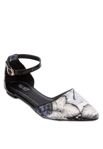 Suzy 花卉繞踝平底鞋, zalora退貨女鞋, 鞋