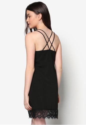 Lozalora鞋ve 蕾絲雙肩帶洋裝, 服飾, 洋裝