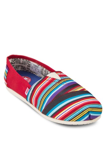 Serape 撞色條紋懶人鞋, 女zalora 心得鞋, 休閒鞋