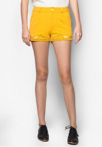 幾何圖形刺繡短褲, zalora 台灣服飾, 服飾