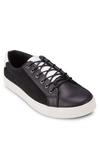 三色拼接zalora開箱繫帶休閒鞋, 鞋, 鞋