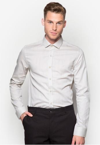 印花修身長袖襯衫, zalora 評價服飾, 襯衫
