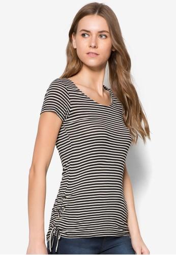 Stripe Tie Szalora 評價ide Tee, 服飾, 服飾
