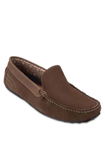 Norzalora 心得way 方頭麂皮莫卡辛鞋, 鞋, 鞋