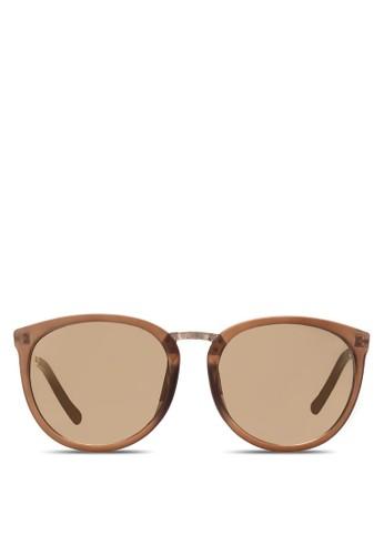 Avery 經典圓框太陽眼鏡, zalora 心得飾品配件, 飾品配件