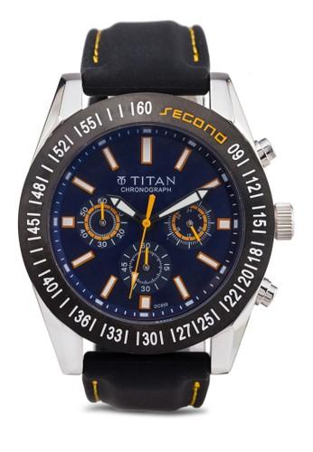 zalora 心得Titan 9491KP01 多功能三指針圓框錶, 錶類, 紳士錶