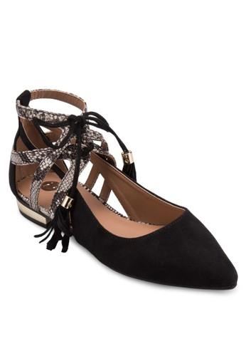 鏤空蛇紋低筒平底鞋, zalora 鞋評價女鞋, 鞋