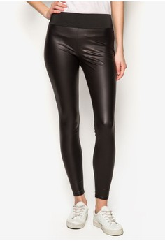 Leather-Look High Waisted Leggings