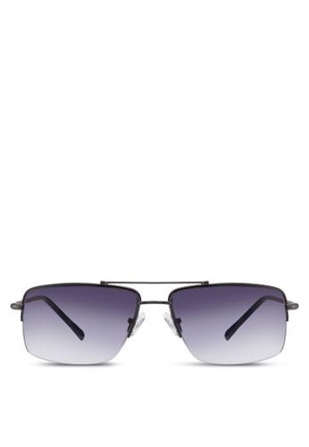時尚半方框太陽眼鏡, 飾品配件, 長zalora 評價框