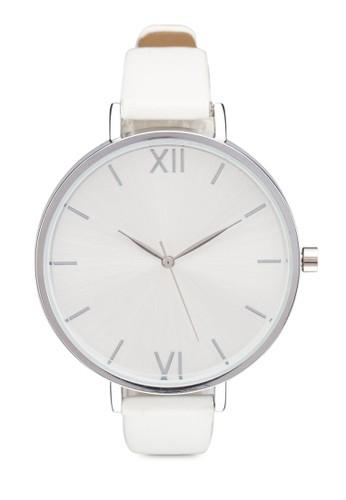 大圓框細帶經典手錶, 錶類, 其它zalora鞋錶帶