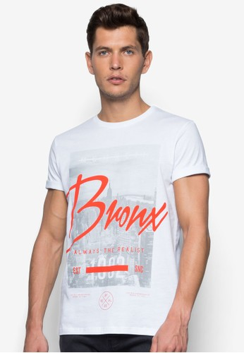 Bronzalora 心得x 城市圖案T 恤, 服飾, 服飾