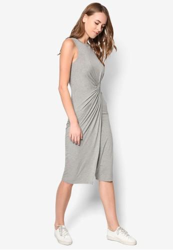扭結修身無袖連身裙, 服飾, 夏日洋zalora鞋裝