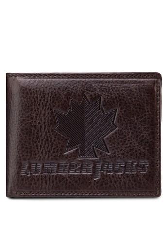 Lumberjazalora退貨cks 壓紋對折皮夾, 飾品配件, 皮革
