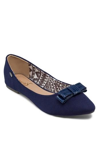 蝴蝶結尖頭平底鞋, 女鞋, 芭蕾平底zalora 心得鞋