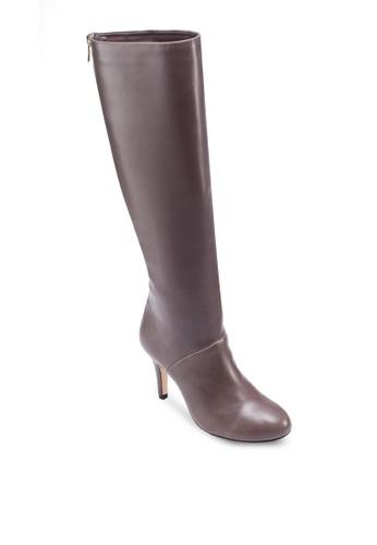 及膝拉鍊zalora 評價有跟高筒靴, 女鞋, 靴子