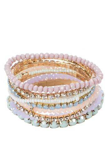 Sibzalora 評價ila 彩色串珠手環組合, 飾品配件, 手鐲 & 手環
