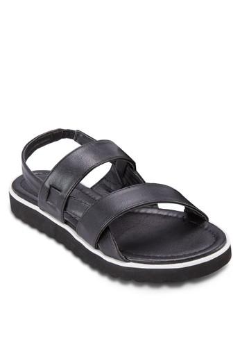 雙寬帶繞踝涼鞋zalora鞋子評價, 女鞋, 鞋