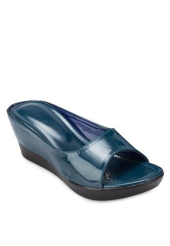 漆皮厚底楔形涼鞋zalora 心得, 女鞋, 楔形涼鞋