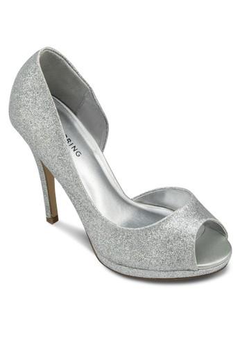 Elilissazalora退貨 露趾挖空高跟鞋, 女鞋, 鞋