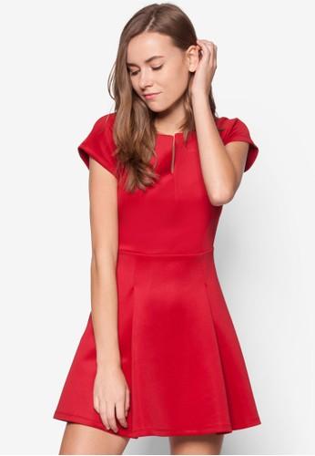 簡約素色連身裙, 服飾, zalora 評價服飾