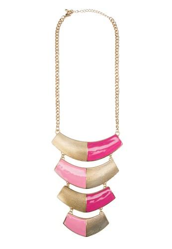 雙色層zalora 台灣疊吊飾項鍊, 飾品配件, 項鍊
