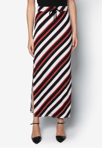 多色條紋長裙,zalora 評價 服飾, 服飾