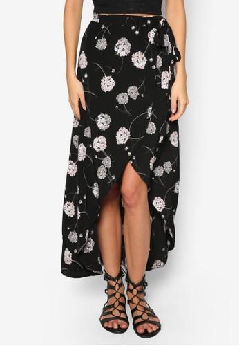 Petite 花zalora開箱卉裹飾長裙, 服飾, 服飾