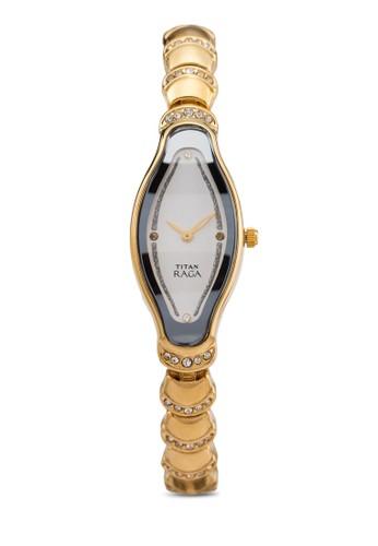 Titan 2395YM01 雙指針水鑽時尚手zalora鞋子評價錶, 錶類, 時尚型