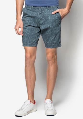 印花休閒短褲zalora 台灣, 服飾, 短褲