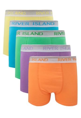 熒光色四角內褲組, 服飾, 內褲zalora退貨及襪子