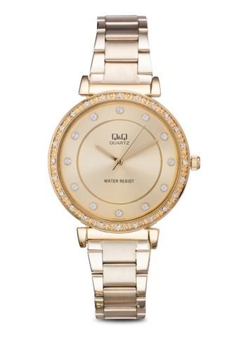 Q&Q Qzalora鞋子評價959J010Y 閃鑽細鍊手錶, 錶類, 淑女錶