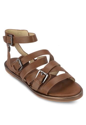 多帶繞踝zalora退貨涼鞋, 女鞋, 鞋