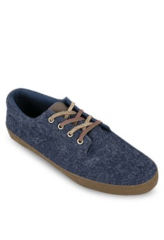 WT - Felt Sneakers With Leather Shoelaces
