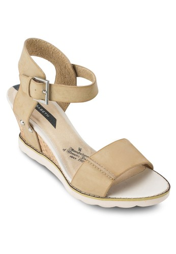 Elisabeth 踝帶楔形涼鞋, 女鞋,zalora 評價 魚口楔形鞋