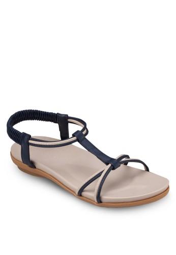 T 字帶繞zalora 心得踝涼鞋, 女鞋, 涼鞋