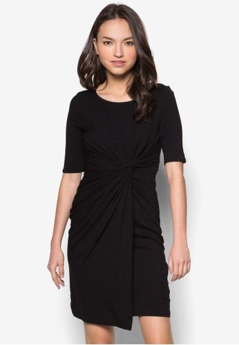Petitzalora鞋子評價e Black Twist Side Dress, 服飾, 服飾