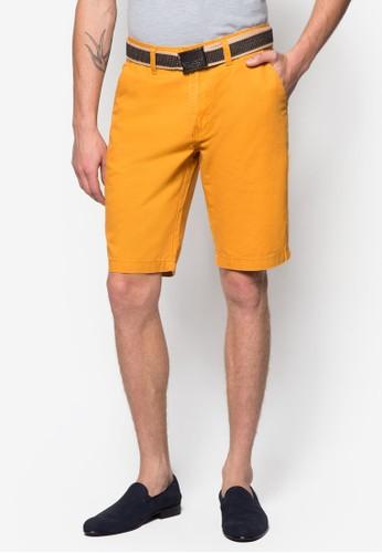 腰帶休閒短褲, 服飾, 服zalora鞋子評價飾