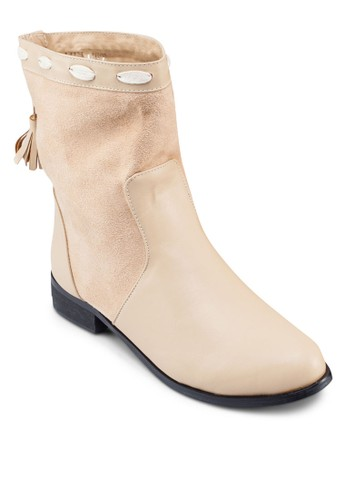 Callie 拉zalora開箱繩流蘇短靴, 女鞋, 靴子