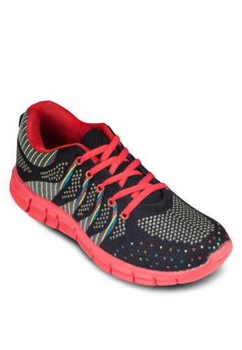 撞色印zalora鞋子評價花運動鞋, 鞋, 鞋