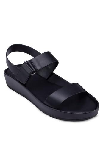 經典寬zalora 評價帶繞踝涼鞋, 女鞋, 鞋