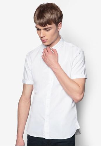 素色zalora 心得短袖襯衫, 服飾, 素色襯衫