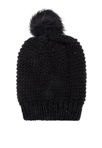 Georgia 亮片毛錢毛zalora 評價帽, 飾品配件, 毛線帽