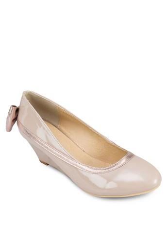 Veron 鞋背蝴蝶結楔形鞋, zalora開箱女鞋, 鞋