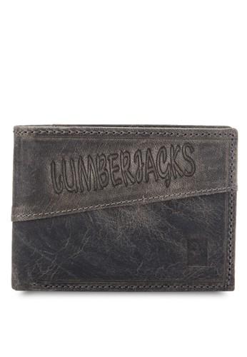 Lumbzalora 台灣erjacks 仿舊壓紋對折皮夾, 飾品配件, 飾品配件