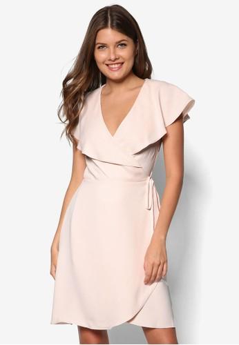 裹式繫帶連身裙, 服飾, zalora 心得正式洋裝