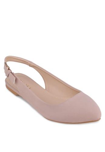 繞踝尖頭娃zalora退貨娃鞋, 女鞋, 芭蕾平底鞋
