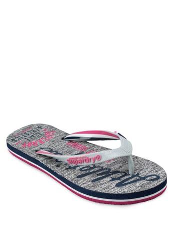 印花夾腳拖, 女鞋, zalora 鞋評價拖鞋