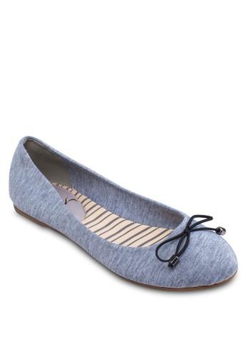 蝴蝶結帆布平zalora 評價底鞋, 女鞋, 芭蕾平底鞋