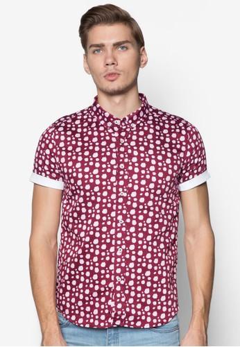 點點印花反折袖襯衫,zalora 心得 服飾, 服飾