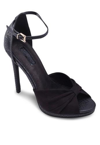 ROCCO 暗紋繞踝高跟鞋, 女zalora 心得鞋, 鞋